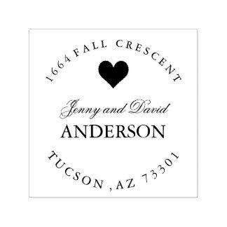 Pretty Heart Rubber Address Stamp