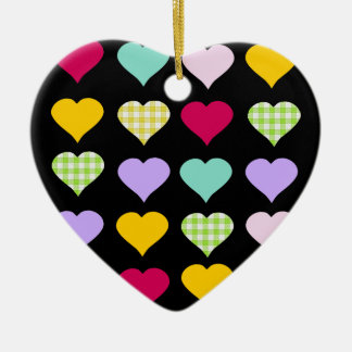 Pretty Heart-shaped colorful heart ornament