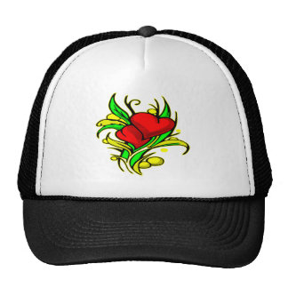 Pretty Hearts and Flowers #0044 Trucker Hat