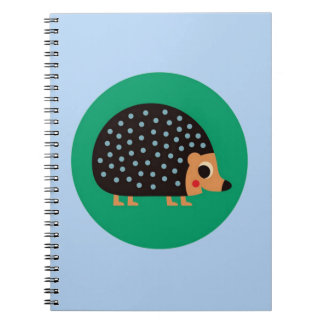 Pretty hedgehog spiral note book