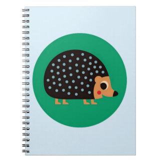 Pretty hedgehog spiral notebook