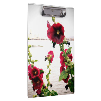 Pretty Hollyhock Floral Clipboard