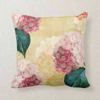 Pretty Hydrangea Floral Cushion