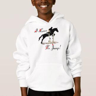 Pretty I Love To Jump Horse Hoodie