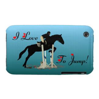 Pretty I Love To Jump Horse iPhone 3/3G Case