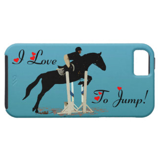 Pretty I Love To Jump Horse iPhone 5 Case