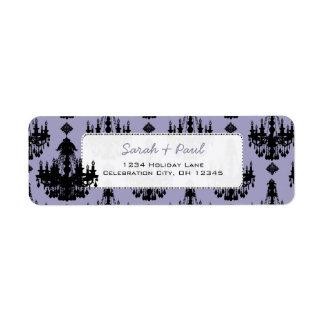 Pretty in Lavende Chandeliers Return Address Label