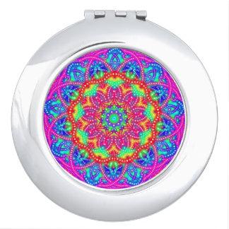Pretty in Pastel Mandala Round Compact Mirror