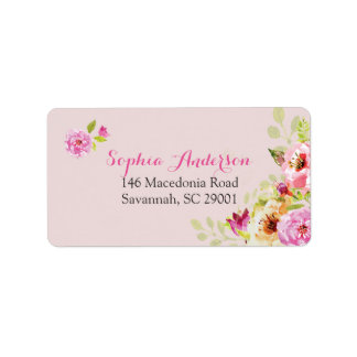 Pretty in Pink Address Label