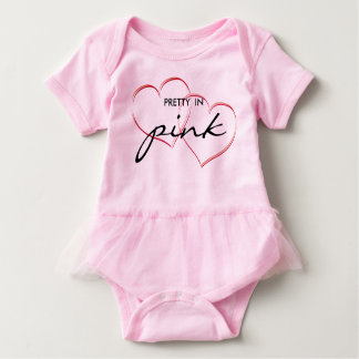Pretty in Pink Baby Onepiece Baby Bodysuit