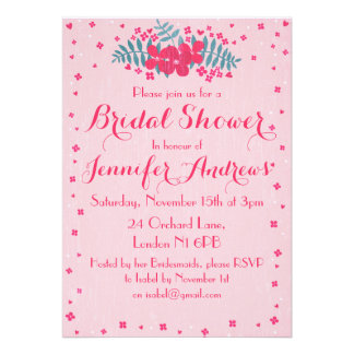 Pretty in Pink Bridal Shower Invitation