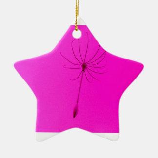 pretty in pink ceramic star decoration