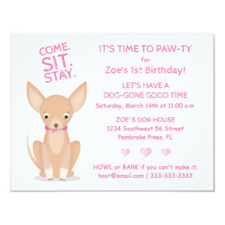 Pretty in Pink Chihuahua Card