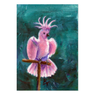 Pretty In Pink Cockatoo Art Card Pack Of Chubby Business Cards