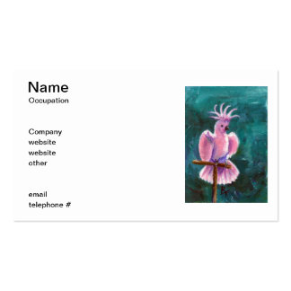 Pretty In Pink Cockatoo Business Cards