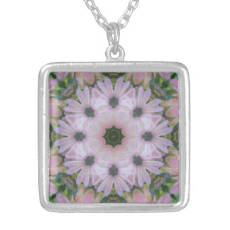 Pretty in Pink Daisies Mandala Necklace
