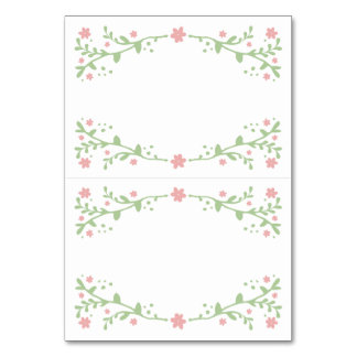 Pretty in Pink Foldable Table Place Cards