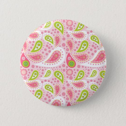Pretty in pink girly gift ideas for girls 6 cm round badge