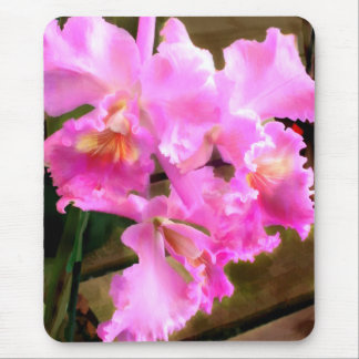 Pretty in Pink Orchids Mouse Mat