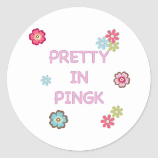 Pretty in Pink Ping Pong Round Sticker