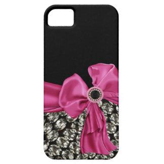 Pretty in Pink Rhinestone & Bow IPhone 5 Case