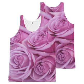 Pretty in Pink Roses All-Over Print Tank Top