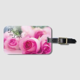Pretty in Pink Roses Luggage Tag