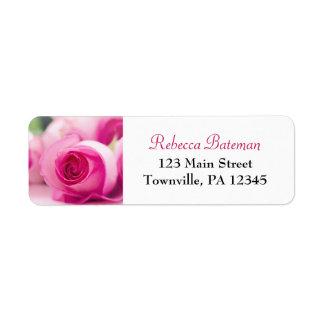 Pretty in Pink Roses Return Address Label