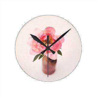 Pretty in Pink Round Clock