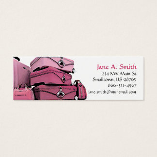 """""""Pretty in Pink"""" Skinny Business Card"""