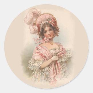 Pretty in Pink Round Sticker