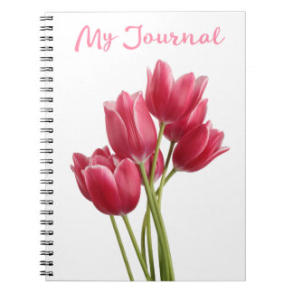 Pretty in Pink Tulips Notebook
