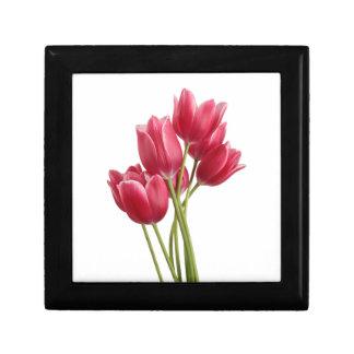 Pretty in Pink Tulips Small Square Gift Box