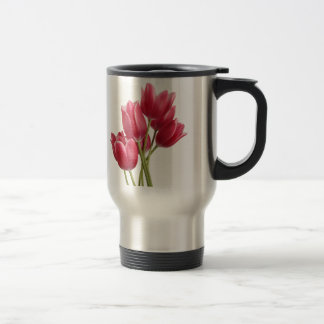 Pretty in Pink Tulips Stainless Steel Travel Mug