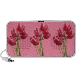 Pretty in Pink Tulips Travelling Speakers