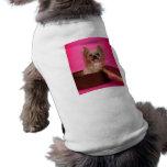 Pretty in Pink Yorkie Doggie T Shirt