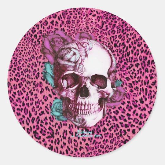 Pretty in Punk Shocking Leopard Products! thnx PJ Classic Round Sticker