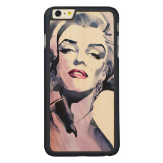 Pretty in Purple Carved Maple iPhone 6 Plus Case
