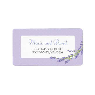 Pretty in Purple | RSVP Address Label