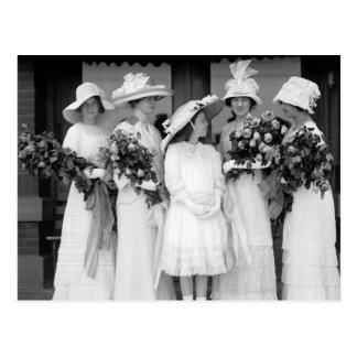 Pretty in White, 1912 Postcard