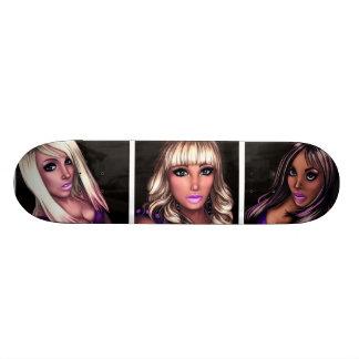Pretty Internet Girls 18.1 Cm Old School Skateboard Deck