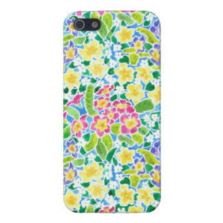 Pretty iPhone 5 Savvy Case: Primroses Pattern iPhone 5 Case