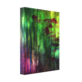 Pretty Iridescent Abstract Design Canvas Print