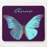 Pretty Iridescent Blue Butterfly