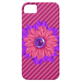 pretty jeweled flower Iphone 5 Case