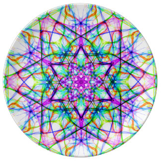 Pretty Kaleidoscope Mandala Decorative Plate