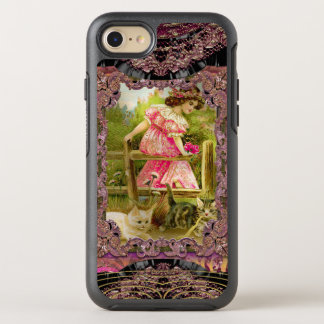Pretty Kittens and Ribbons Girly Victorian OtterBox Symmetry iPhone 8/7 Case