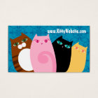 Pretty Kitties on Blue Business Card