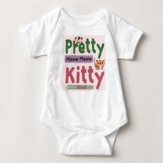 Pretty Kitty Baby Jersey Bodysuite Baby Bodysuit