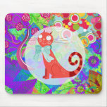 Pretty Kitty Crazy Cat Lady Gifts Vibrant Colorful Mousepads